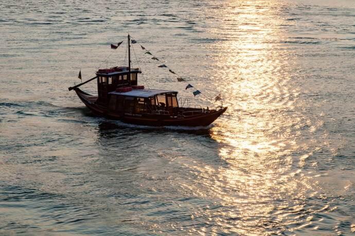 Port Wine Barrels on a Rabelo Boat